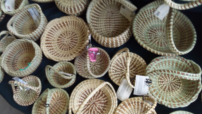sweetgrass baskets in Charleston, SC