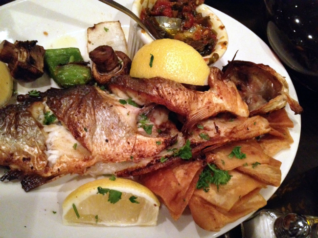 Baltimore 39 s lebanese taverna dishes out comforting for Fish plates near me