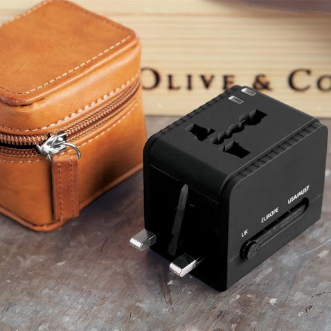 Olive & Cocoa jet-setter-travel-adapter-and-leather-case