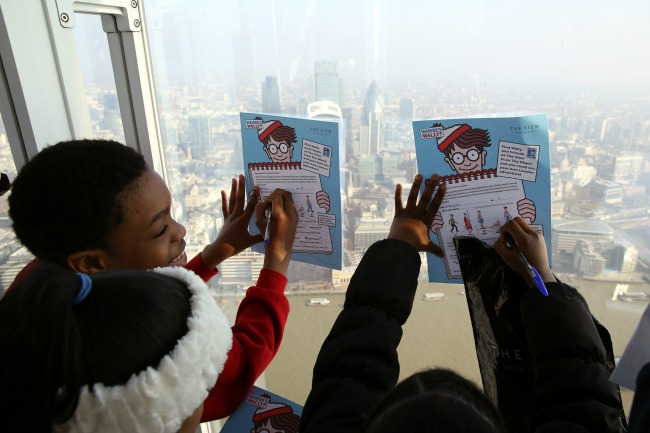 Kids In London Searching For Waldo