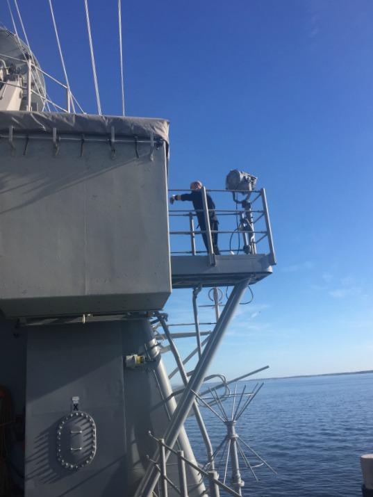Overlook on USS Leyte Gulf
