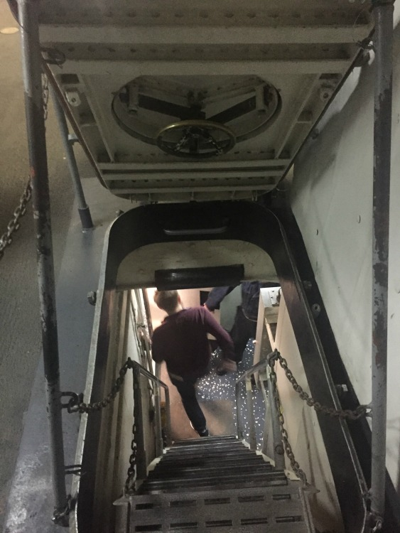Typical narrow ship stairs