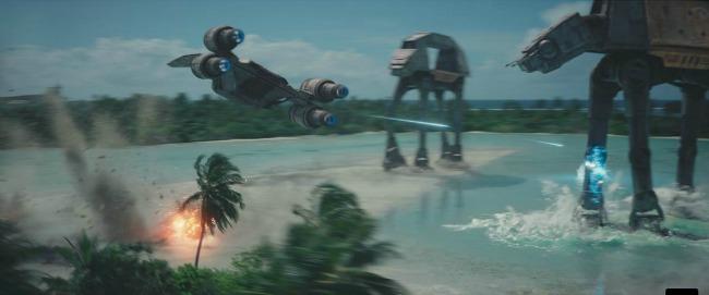 Star Wars Rogue One Beach battle