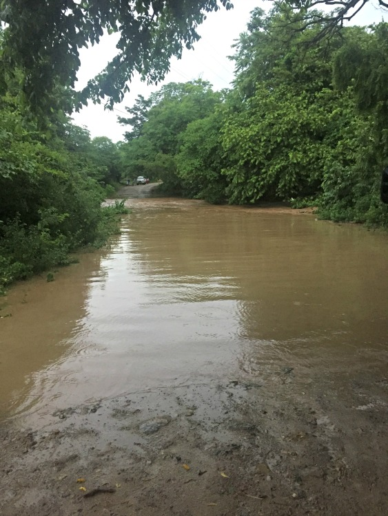 Flooded Road in Nicaragua