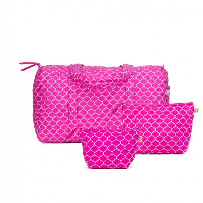 Quilted Koala Pink Duffel Bag