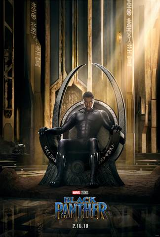 Black Panther Throne Poster