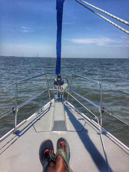 Relaxing on Shardana Sailboat