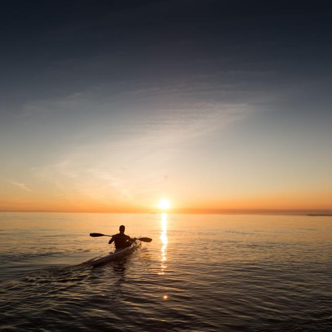 kayak fishing in charleston sc sunset